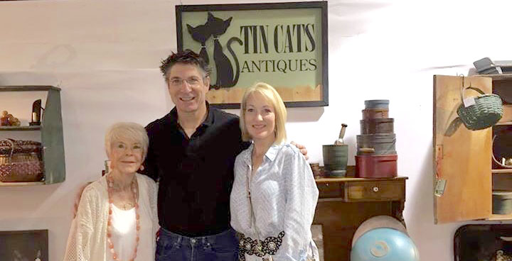 Mary, Dorsey and Jami Wilmarth at the Original Round Top Antiques Fair.