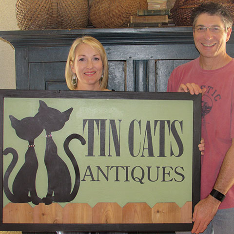 Jami and Dorsey Wilmarth are owners of Tin Cats Antiques.