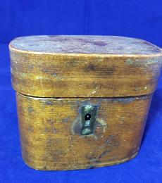 wooden box from 1700s with etched design