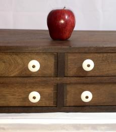 4-Drawer Early Walnut Dovetailed Chest