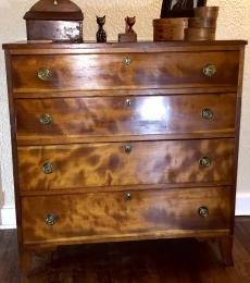 Ca. 1810 Cherry Chest of Drawers