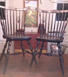 1700s Windsor fan-back side chairs