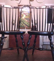 Pair of 1700s Windsor side chairs