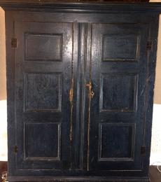 Armoire in original blue paint